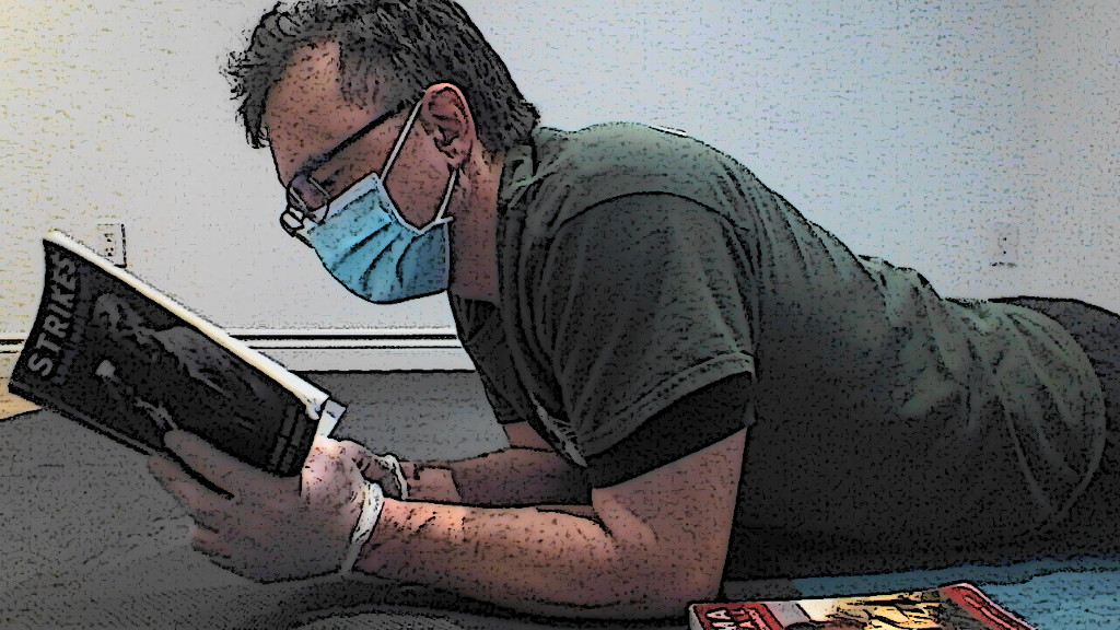Reading System book with mask
